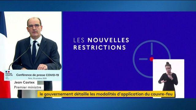 Coronavirus : Jean Castex détaille les modalités du couvre-feu