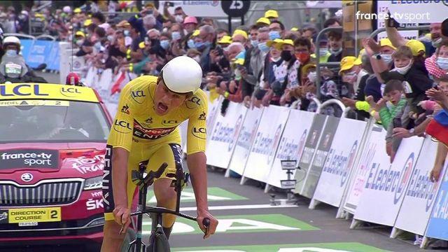 Mathieu van der Poel sauve son maillot jaune pour une poignée de secondes !