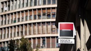 Une agence Société générale à Marseille (Bouches-du-Rhône), le 5 novembre 2015. (BERTRAND LANGLOIS / AFP)