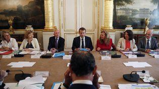 Le premier conseil des ministres après les vacances d'été a eu lieu le 28 août 2017. (CHRISTIAN HARTMANN / POOL)
