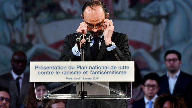 Le Premier ministre Edouard Philippe, le 19 mars 2018, à Paris. (GERARD JULIEN / AFP)