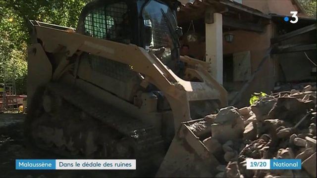 Tempête Alex : dans le dédale des ruines de Malaussène dans les Alpes-Maritimes