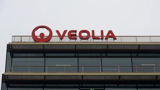 Le siège du groupe Veolia, à Aubervilliers (Seine-Saint-Denis), le 23 janvier 2017. (ERIC PIERMONT / AFP)