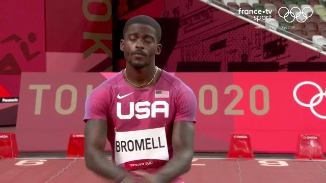 L'un des grands favoris du sprint, Trayvon Bromell s'est contenté du minimum et termine quatrième de sa série. Avec un chrono en 10.05, il parvient tout de même à se qualifier au temps.