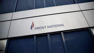Le logo du Front national au siège du parti, le 16 janvier 2015. (MAXPPP)