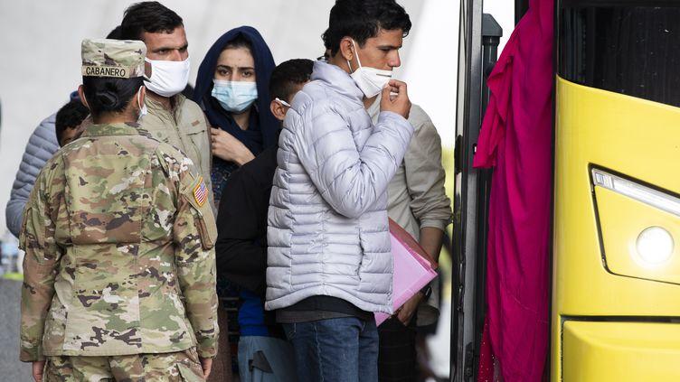 Evacuation d'Afghan à Kaboul (MICHAEL REYNOLDS / MAXPPP)