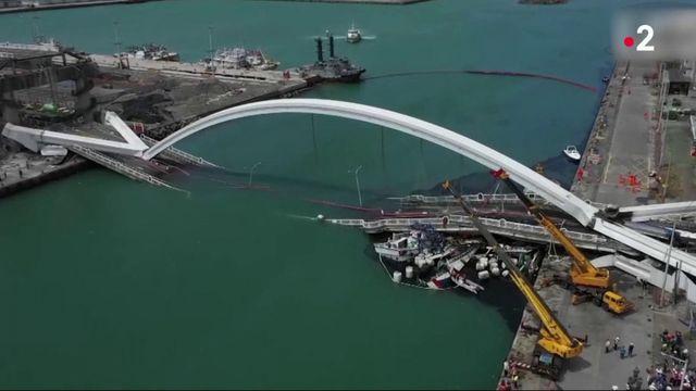 Taïwan : un pont de 140 mètres s'effondre, plusieurs portés disparus