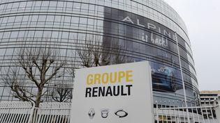 Le siège du groupe Renault à Boulogne-Billancourt le 24 janvier 2019. (ERIC PIERMONT / AFP)