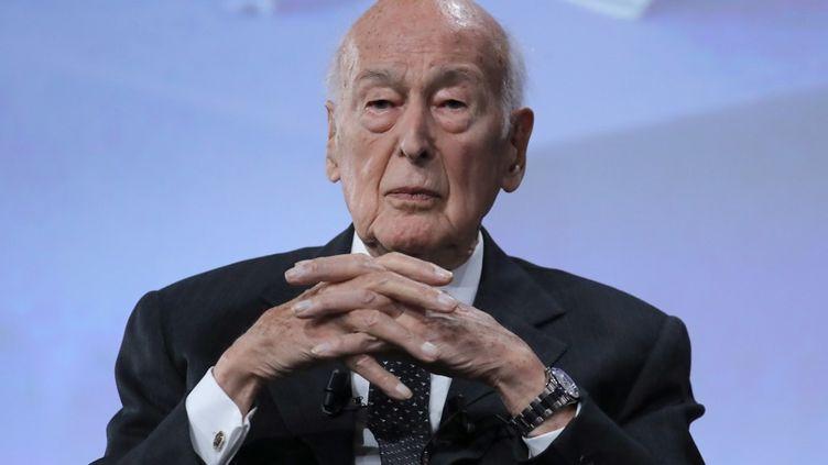 Valery Giscard d'Estaing, le 20 juin 2019, lors du 50e anniversaire de l'élection de Georges Pompidou. (JACQUES DEMARTHON / AFP)