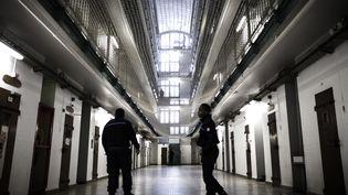 Dans la prison de Fresnes (Val-de-Marne), le 17 octobre 2018. (PHILIPPE LOPEZ / AFP)