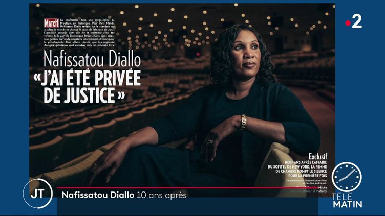 """Nafissatou Diallo dans """"Paris Match"""" (France 2)"""