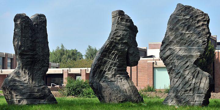 Sculptures d'Eugène Dodeigne à Villeneuve-d'Ascq (septembre 2010)  (Philippe Huguen / AFP)