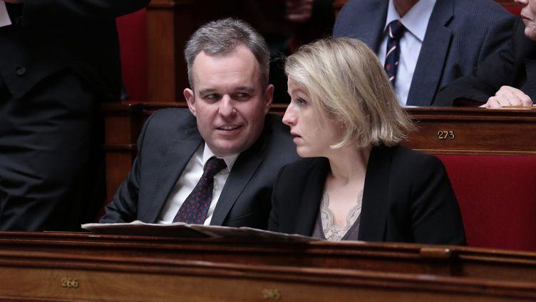 Les députés écologistes François de Rugy et Barbara Pompili, le 19 mars 2013 à l'Assemblée nationale. ( PIERRE LE MASSON / LA VOIX DU NORD / MAXPPP)