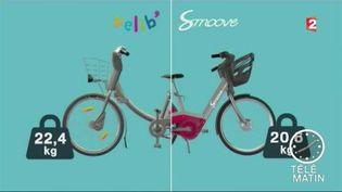 Le Vélib' à côté du Smoovengo (France 2)
