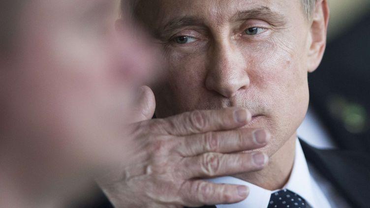 Le président russe, Vladimir Poutine, le 16 juillet 2014, à Brasilia(Brésil) pour le sommet des Brics. (FELIPE DANA / AP / SIPA)