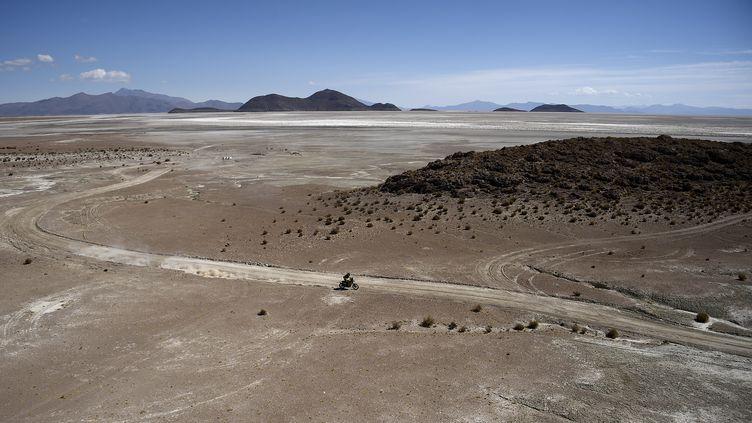 L'accident a eu lieu lors de la spéciale de la 7e étape du Dakar entre Uyuni (Bolivie), et Salta (Argentine), samedi 8 janvier 2016. (FRANCK FIFE / AFP)