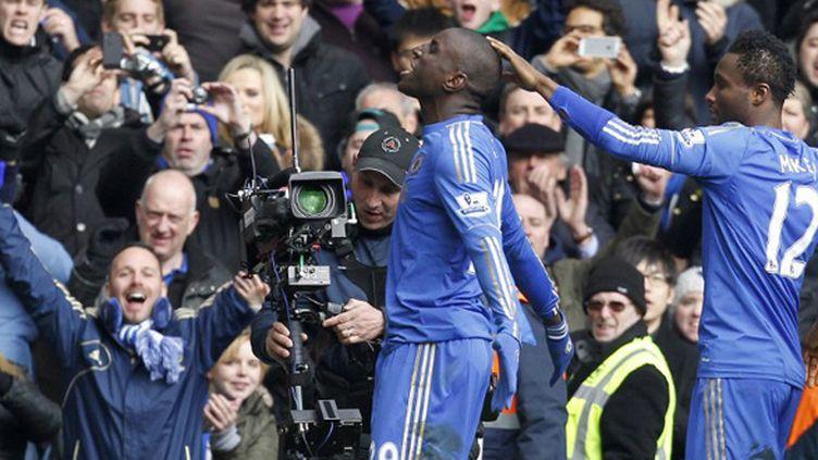 Demba Ba a qualifié Chelsea pour les demi-finales de FA Cup (IAN KINGTON / AFP)