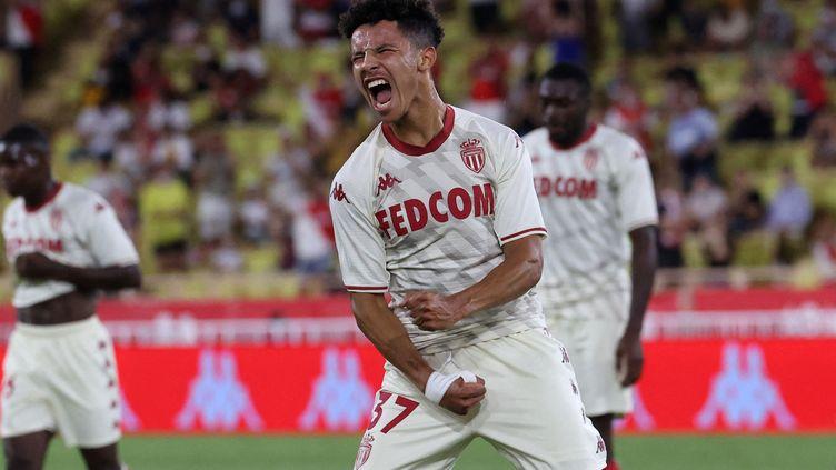 Le milieu offensif Sofiane Diop a inscrit le troisième but de l'AS Monaco face au Sparta Prague au troisième tour préliminaire de Ligue des champions, mardi 10 août. (VALERY HACHE / AFP)