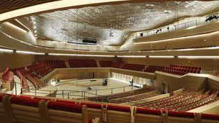 L'auditorium de la Seine musicale qui est inaugurée le 22 avril 2017.  (PATRICK KOVARIK / AFP)