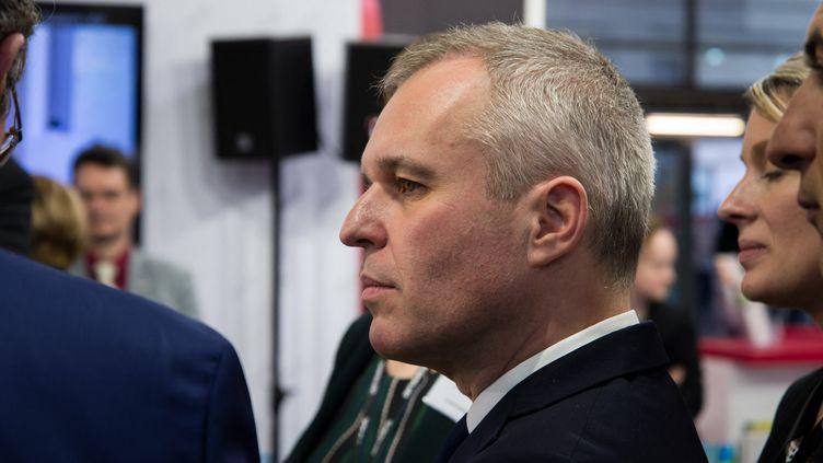 François de Rugy, alors ministre de la Transition écologique, au Salon de l'agriculture à Paris, le 26 février 2019. (RICCARDO MILANI / AFP)