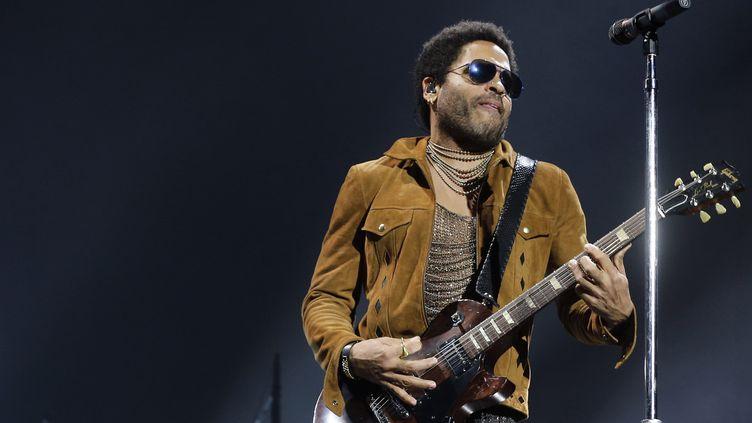 Lenny Kravitz le 23 novembre à Bercy.  (FRANCOIS GUILLOT / AFP)