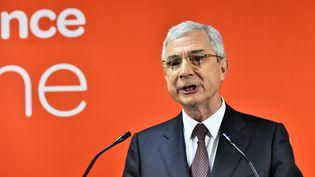Claude Bartolone, tête de liste de la gauche en Ile-de-France, le 13 décembre 2015 à Paris. (LOIC VENANCE / AFP)
