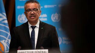 Tedros Adhanom Ghebreyesus, le président de l'Organisation mondiale de la santé, au siège de l'organisation à Genève, le 18 janvier 2021. (CHRISTOPHER BLACK / WORLD HEALTH ORGANIZATION)