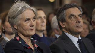 Penelope et François Fillon lors d'un meeting de campagne à Paris, le 29 janvier 2017. (STÉPHANE ROUPPERT / CITIZENSIDE / AFP)