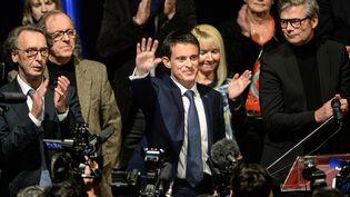 Manuel Valls enmeeting à Audincourt (Doubs), le 7 décembre 2016 (SEBASTIEN BOZON / AFP)