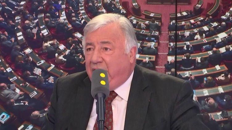 Gérard Larcher, président du Sénat, invité de franceinfo le 28 février 2019. (FRANCEINFO / RADIOFRANCE)