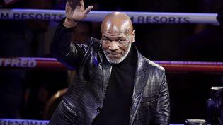 Mike Tyson de retour sur le ring (illustration 23 juillet 2020) (ETIENNE LAURENT / EPA)