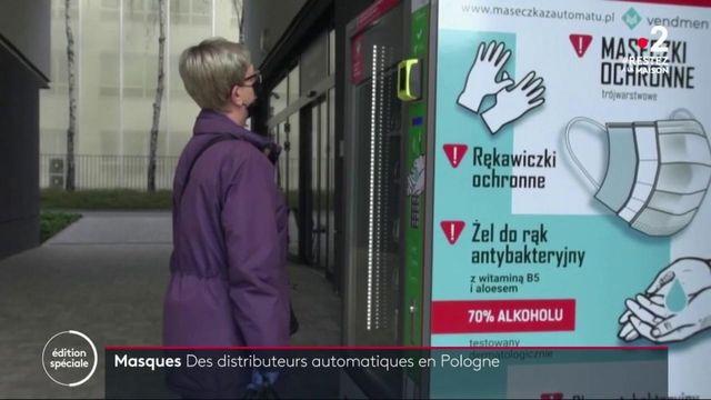 En Pologne, des distributeurs de masques ont été installés dans les rues