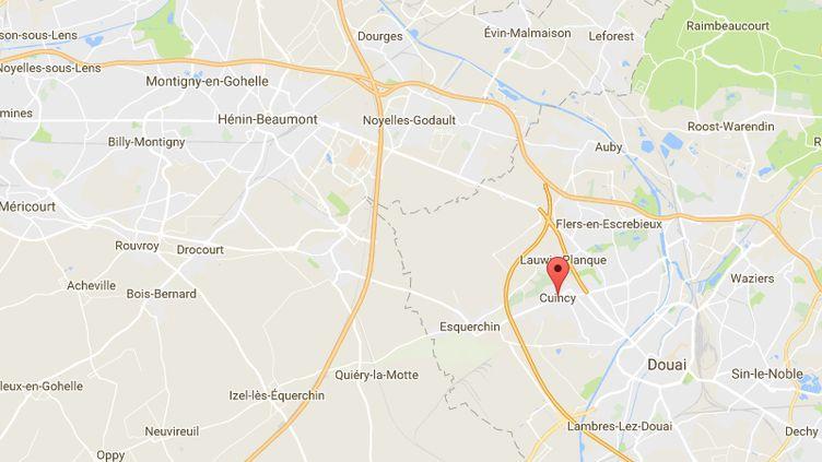 Cuincy,dans le département du Nord. (GOOGLE MAPS)