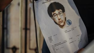 Portrait-robot du suspect de l'attentat perpétré à Bangkok(Thaïlande),le 17 août 2015, faisant vingt morts. (ANDY ZINGO / CITIZENSIDE.COM / AFP)