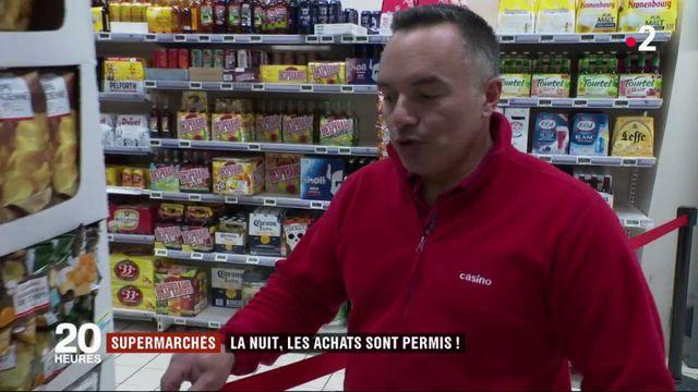 Supermarchés : faire ses courses durant la nuit