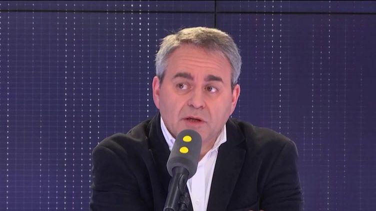 Le président des Hauts-de-France, Xavier Bertrand, invité de franceinfo le 29 mars 2019. (RADIO FRANCE)
