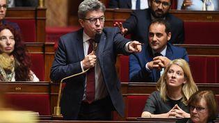 Le député Jean-Luc Mélenchon lors de la séance des questions au gouvernement à l'Assemblée Nationale, à Paris, le 16 octobre 2018. (PDN/SIPA)