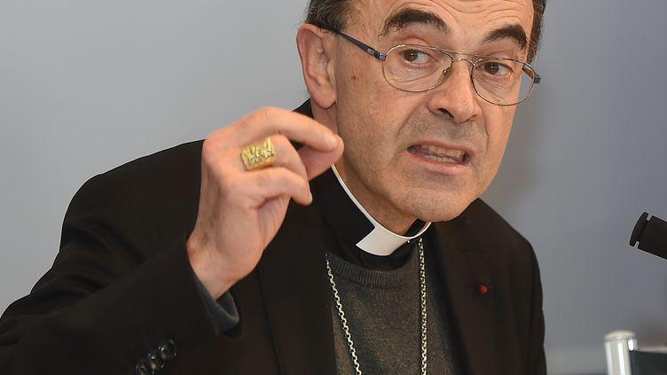 Le cardinal Philippe Barbarin, archevêque de Lyon, le 15 mars 2016 à Lourdes (Hautes-Pyrénées). (ERIC CABANIS / AFP)