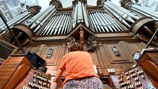 Le grand orgue de la cathédrale de Nantes, le 17 juillet 2019. (JEROME FOUQUET / MAXPPP)