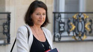La ministre de la Santé et des Solidarités, Agnès Buzyn, le 10 juillet 2019 à l'Elysée. (LUDOVIC MARIN / AFP)