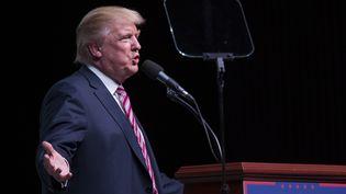 Donald Trump, candidat républicain à la présidentielle américaine, tient un discours à Panama City, en Floride, le 11 octobre 2016. (MARK WALLHEISER / GETTY / AFP)