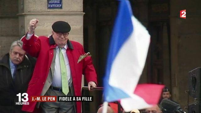 """1er mai : Jean-Marie Le Pen ironise sur Emmanuel Macron et sa """"tournée des cimetières"""""""