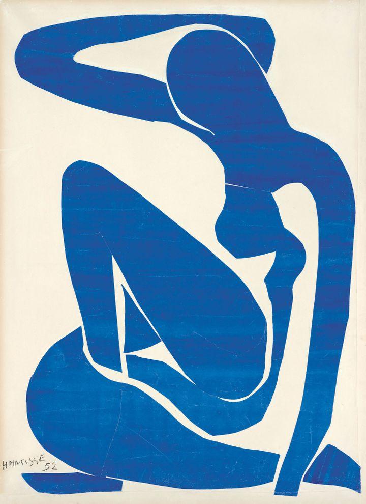 Henri Matisse, Nu bleu (I), 1952, Fondation Beyeler, Riehen/Bâle, photo Robert Bayer, Bâle  (Succession Henri Matisse/DACS 2013)