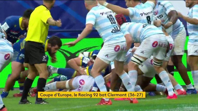 Le Racing 92face à Clermont en Coupe d'Europe de rugby (FRANCEINFO)