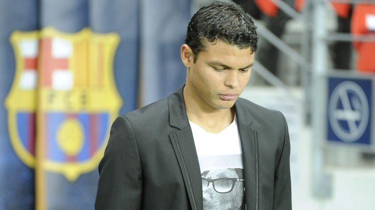 Thiago Silva a déclaré forfait pour le quart de final retour face au FC Barcelone (JEAN MARIE HERVIO / DPPI MEDIA)