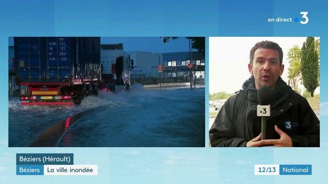 Béziers : la ville sous l'eau