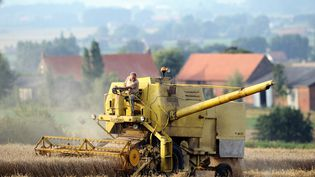Un agriculteur français, le 11 août 2012, à Cassel (Nord). (PHILIPPE HUGUEN / AFP)