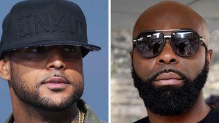 Les rappeurs Booba et Kaaris.  (Dominique FAGET, Loïc VENANCE / AFP)