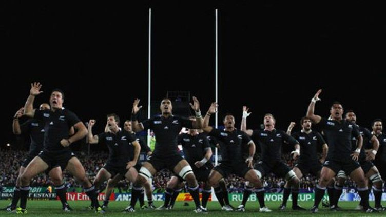 Le traditionnel haka des All Blacks