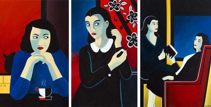 Certaines des oeuvres de Marjane Satrapi avaient déjà été exposées en 2013 à la galerieJérôme de Noirmont. (Marjane Satrapi)